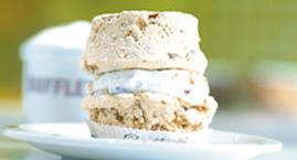 Dufflet toasted almond meringue torte